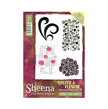 Sheena Douglass Create a Flower A6 Rubber Stamp - Funky Textures 2 UTGÅENDE