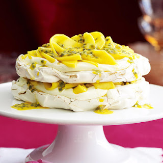 Mango and Passion Fruit Pavlova.