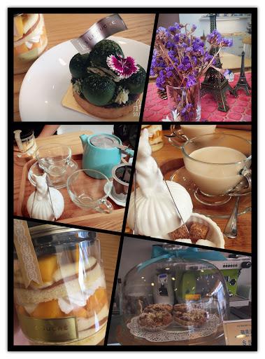 馬可波羅奶茶富含著水果、焦糖、香草香氣,自己加入黑方糖或方糖,很喜歡~ 宇治金時小塔除了抹茶紅豆以外,還加入了一些些的麻糬增加口感,感受到店家的用心