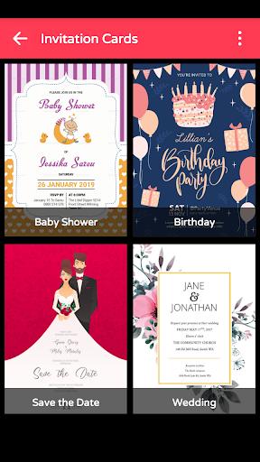 Invitation Maker Birthday Wedding Card Designer App