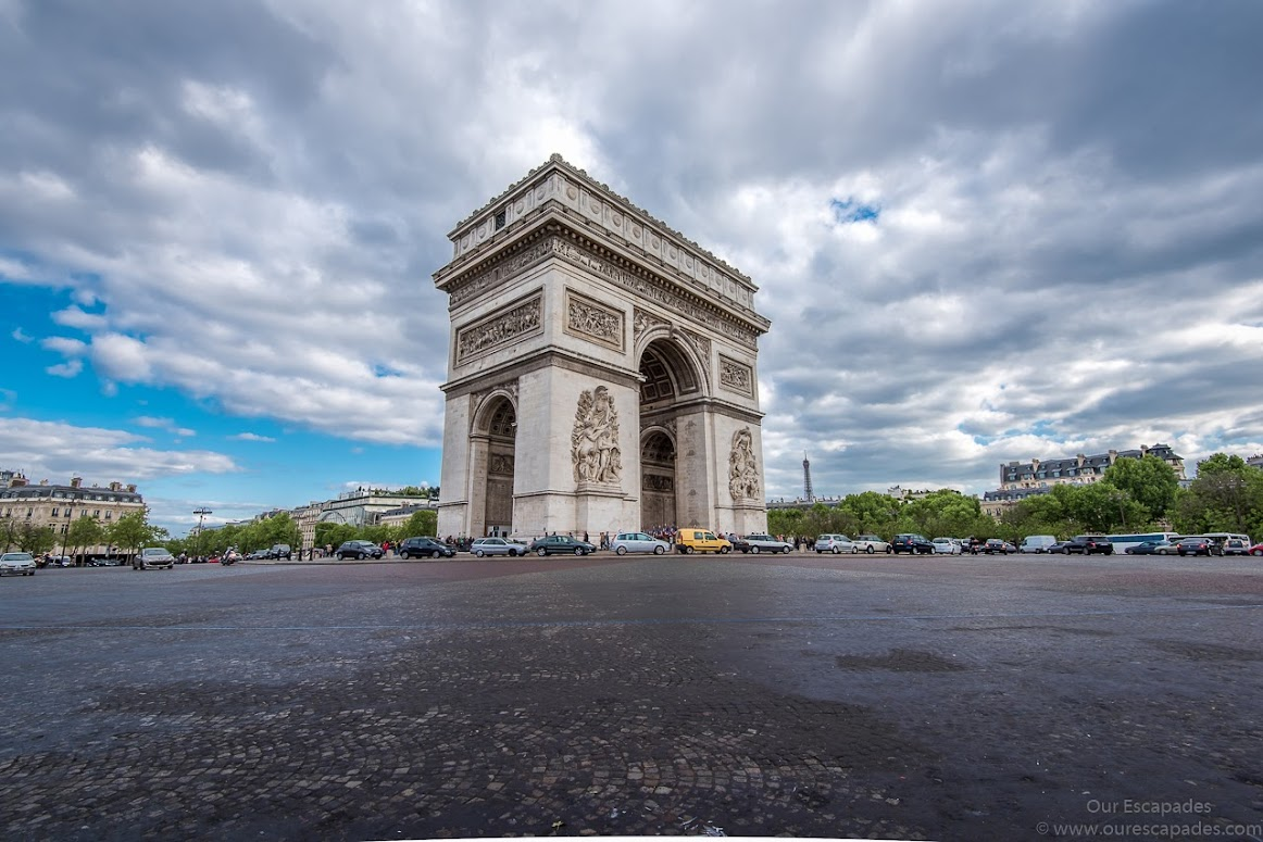 Another view of Arc de Triomphe