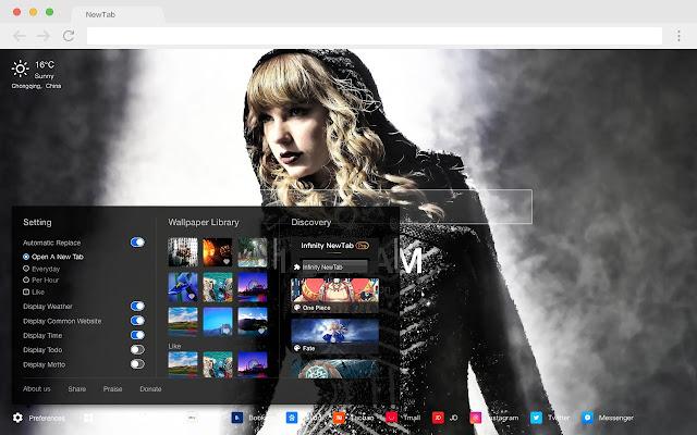 Taylor Swift Pop Star HD New Tabs Theme