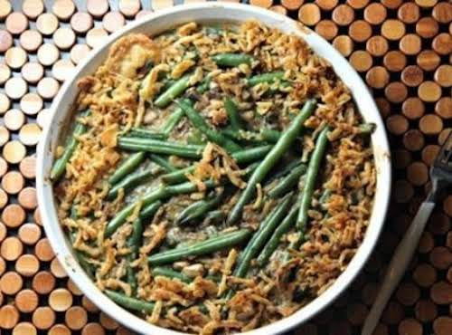 "Grown Up Green Bean Casserole ""Ditch the canned soup, keep the fried..."