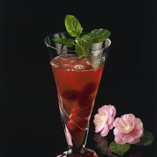 Sparkling Cherry Cocktail.