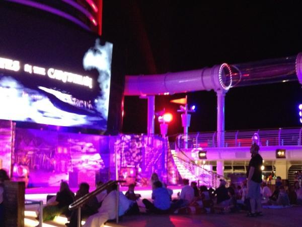 Photo: Everyone gathering for the Pirates Party and Buccaneer Bash on the Disney Fantasy... Fireworks to follow!