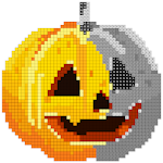 Halloween Sandbox Number Coloring- Color By Number Icon