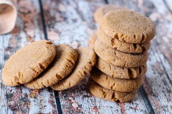 A Stack Of Virginia's Molasses Cookies.