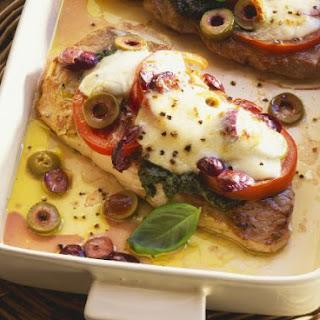 Mozzarella-topped Pork Cutlets