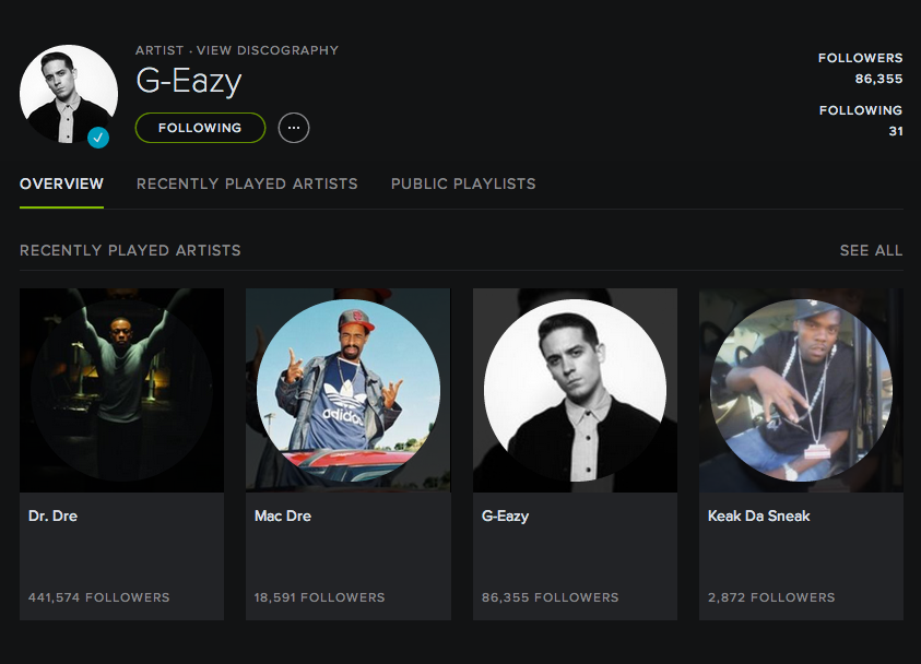 User Profile - G-Eazy