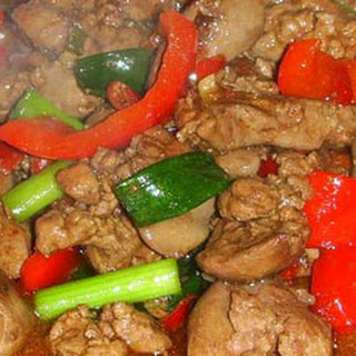 Chicken Liver Stir Fry with Sweet Chilli.