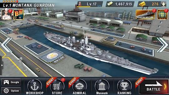 WARSHIP BATTLE: 3D World War II Mod Apk 3.4.0 (Unlimited Money) 3