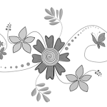 Grey Scale Flowers