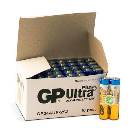 Batteri GP Ultra Plus AAA 40fp