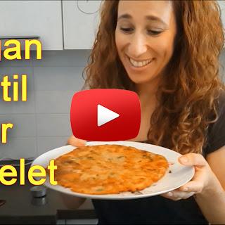 Vegan Lentil Flour Omelet.