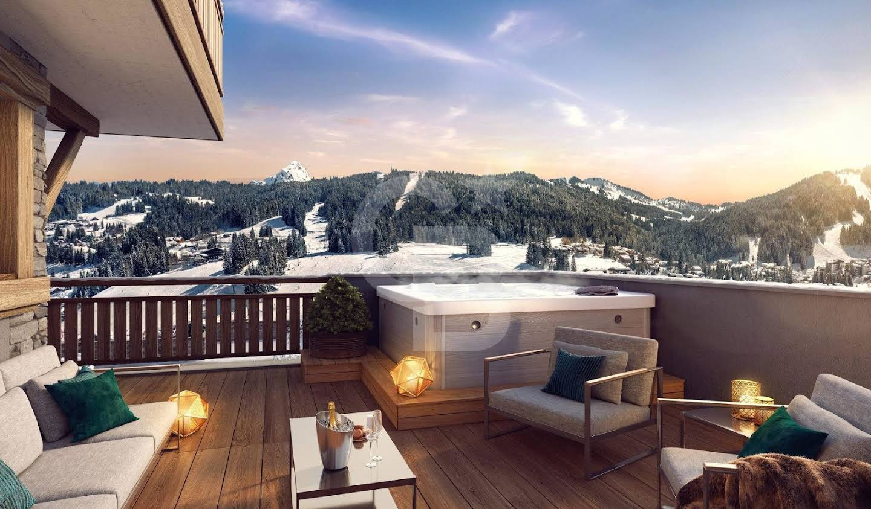 Chalet avec vue panoramique et terrasse Les Gets