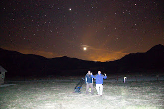Photo: More silly night pictures under Venus and Jupiter.