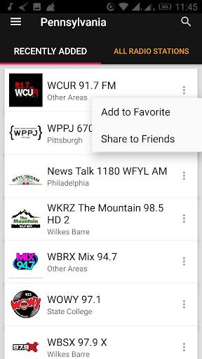 Pennsylvania Radio Stations - USA 2.0.1 screenshots 1