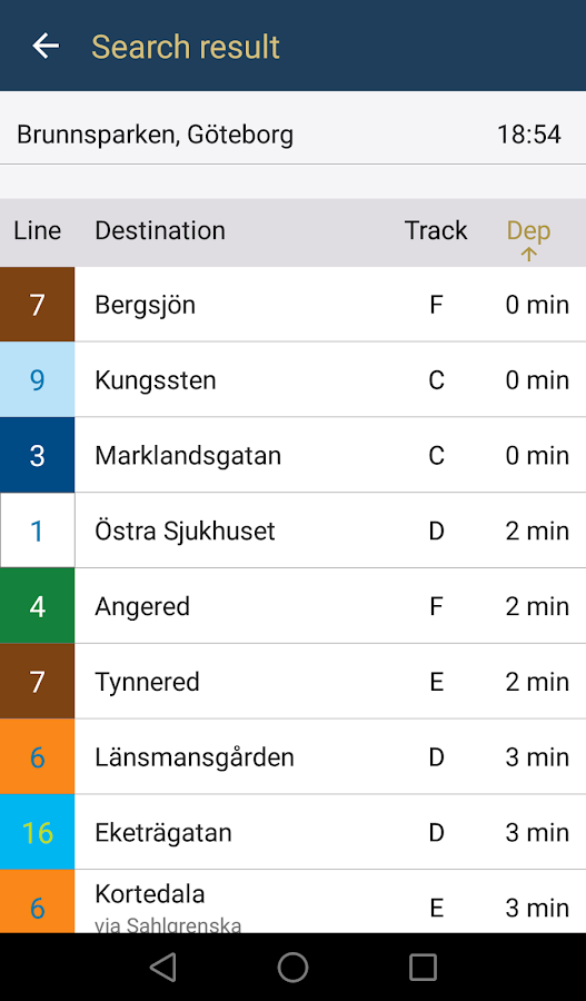GoWest - Västtrafik- screenshot