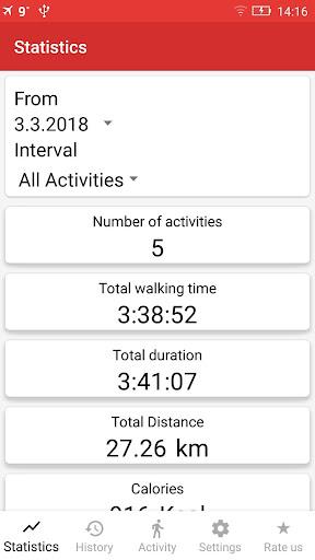 Walking GPS fitness tracker 2.0 screenshots 5
