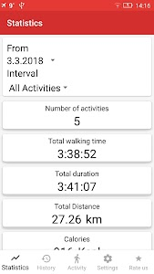 Walking GPS fitness tracker 2.0