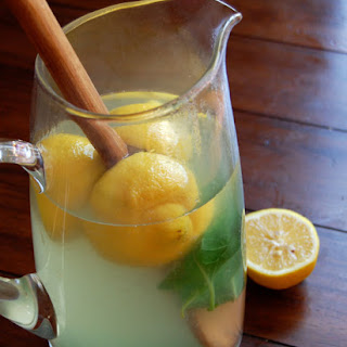 Lemon, Ginger and Basil Iced Tea