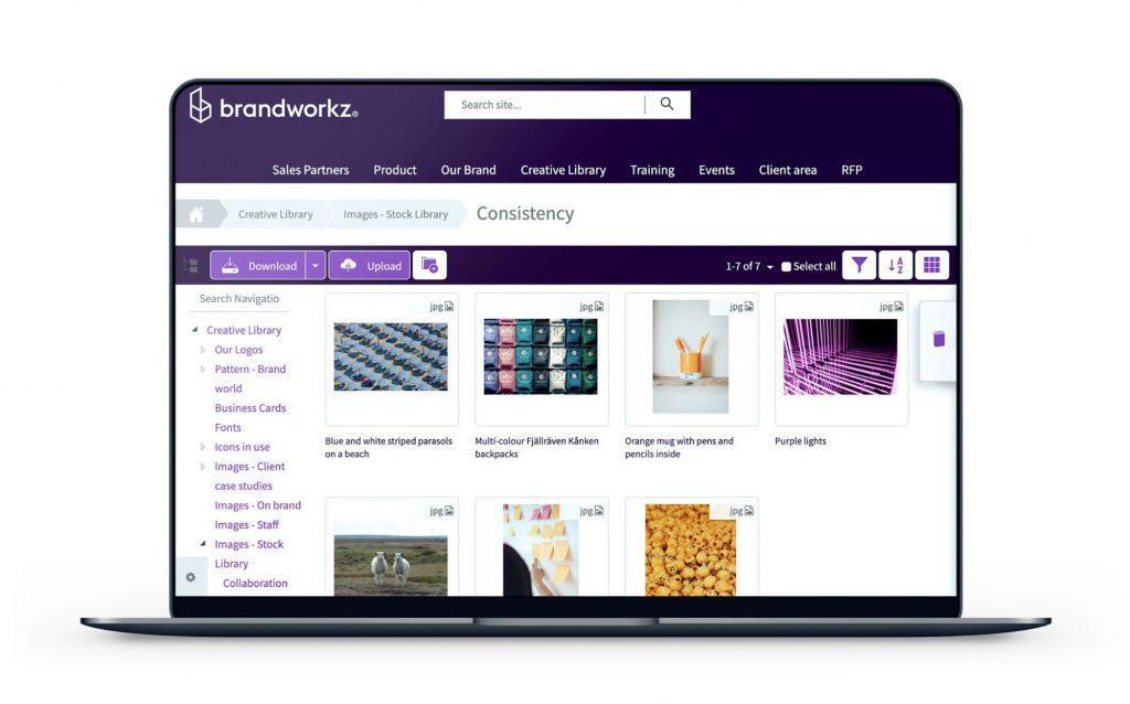 brandworkz Software zur Verwaltung von Markenwerten