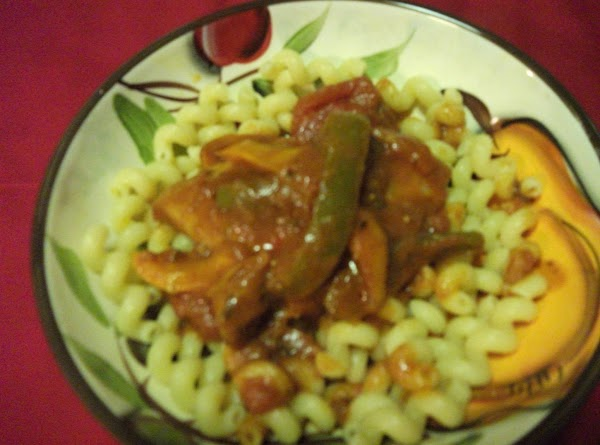 Cacciatore:  Boil your favorite pasta.  After draining completely top with a chicken...