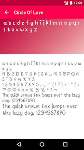 Romance Fonts for FlipFont - náhled