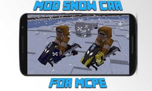 Mod Snow Car for MCPE - náhled