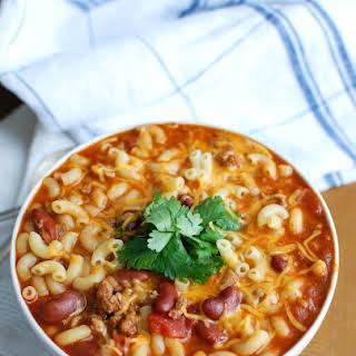 Crock-Pot® Turkey Chili Mac and Cheese.