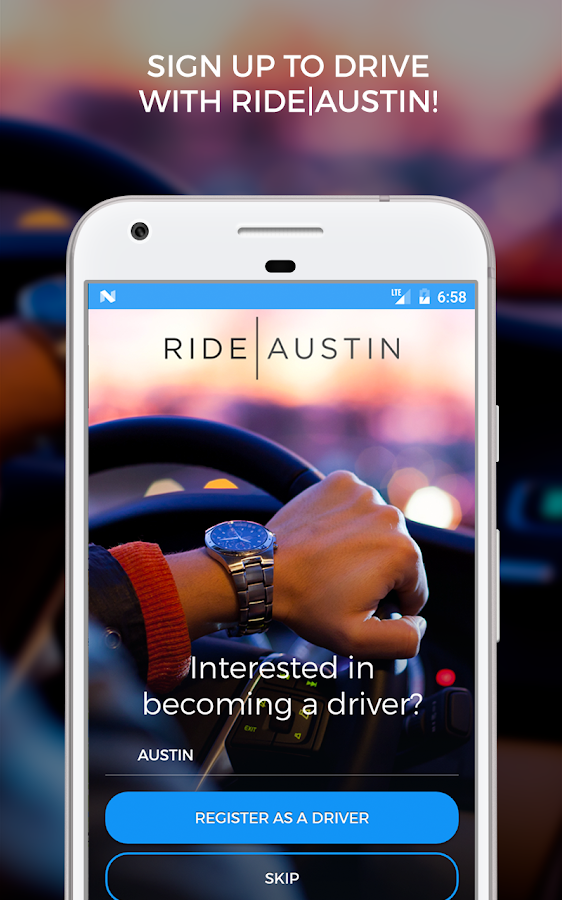 Ride Austin Non-Profit TNC- screenshot