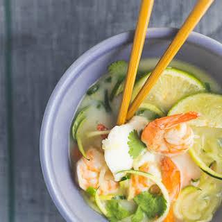 Whole30 Thai Seafood Coconut Soup.