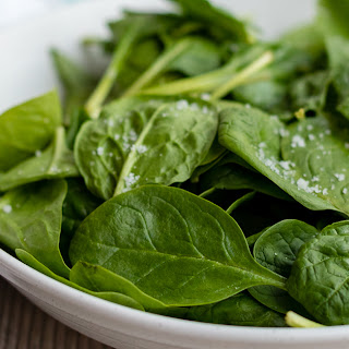 Balsamic Spinach Salad With Sea Salt.
