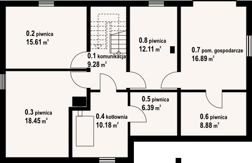 Osiek 39 dw - Rzut piwnicy