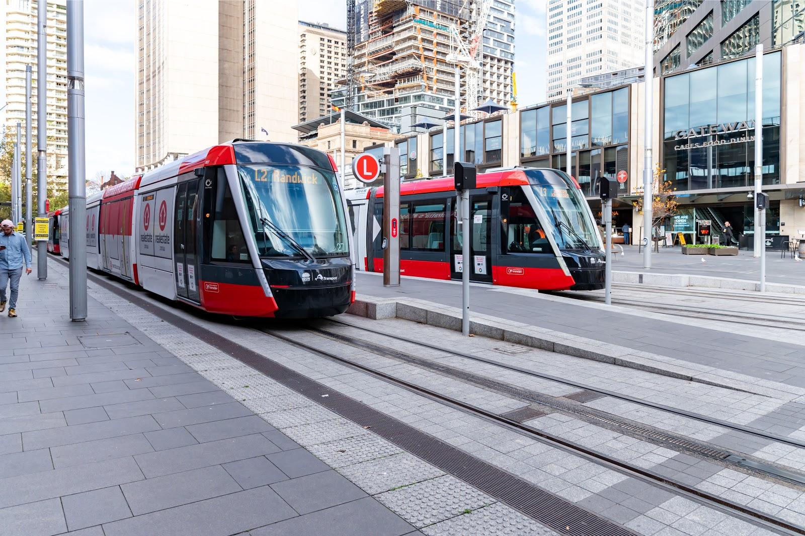 Tramline in Sydney