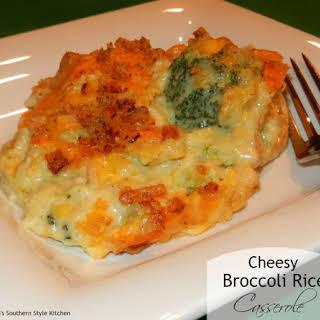 Cheesy Broccoli Rice Casserole.
