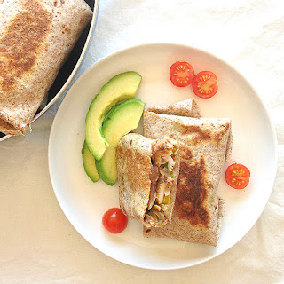 Whole Wheat Chicken Celery Burritos