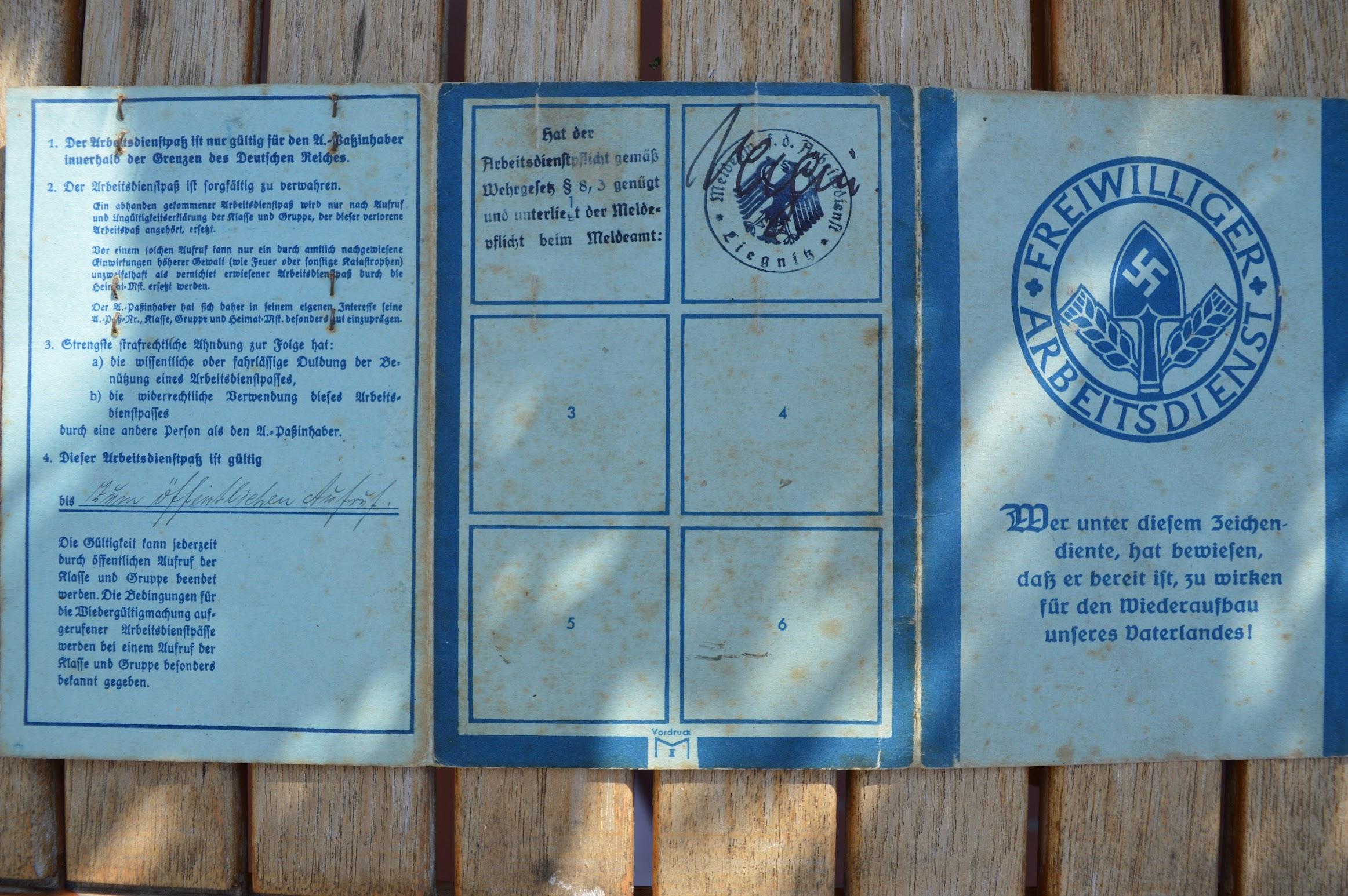 Freiwilliger Arbeitsdienst - 1934