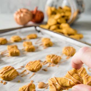 Soft Baked Peanut Butter Pumpkin Homemade Dog Treats.