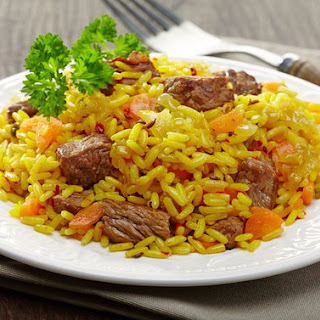 Diet Risotto With Beef And Carrots