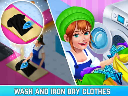 Laundry Service Dirty Clothes Washing Game  captures d'écran 2
