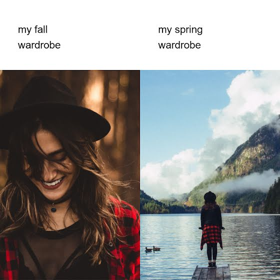 Fall vs. Spring Wardrobes - Instagram Post Template