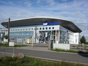 Photo: SAP Arena Mannheim, hier spielen die  Adler Mannheim Eishockey