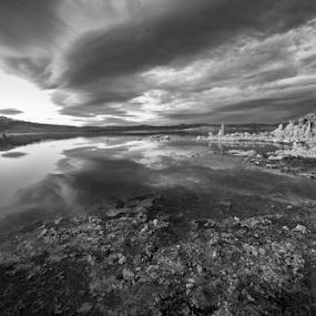 Contact by Michael Keel - Black & White Landscapes ( desert, sierras, mono lake, tufa, high plains drifter )