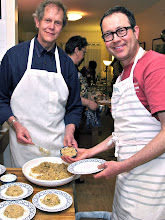 Photo: Lee and Marlon plating the rice