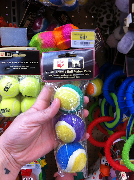 Photo: Look at these adorable little tennis balls for 94 cents!!