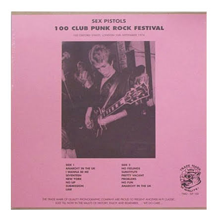 LP - Sex Pistols - 100 Club Punk Rock Festival