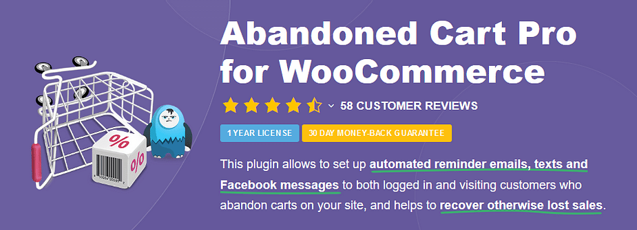 Plugin Abandoned Cart Pro cho WooCommerce.