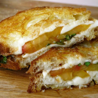 Caprese Grilled Cheese with Tomato, Mozzarella, and Basil
