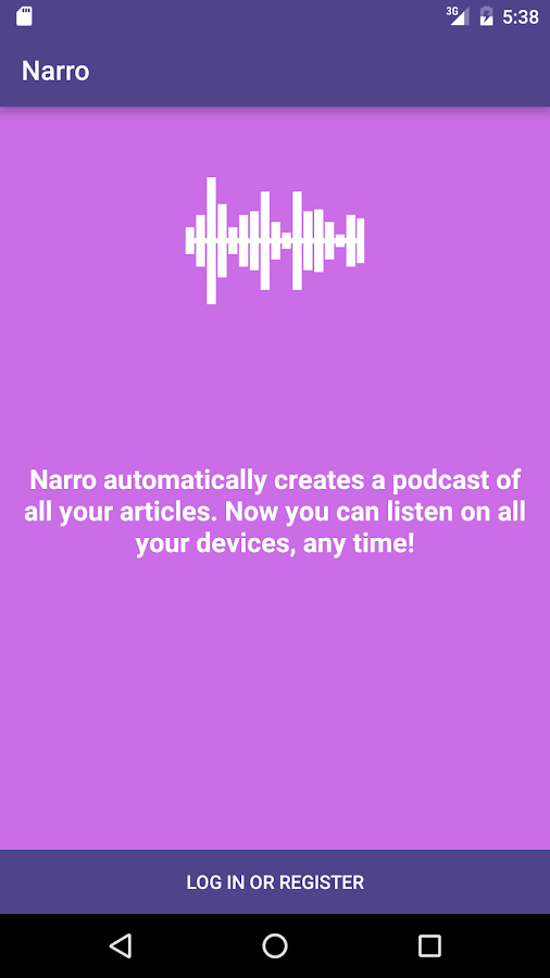 Narro: Articles to Audio- screenshot